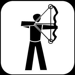 2021 - Logo - Piktogramm - Bogenschiessen