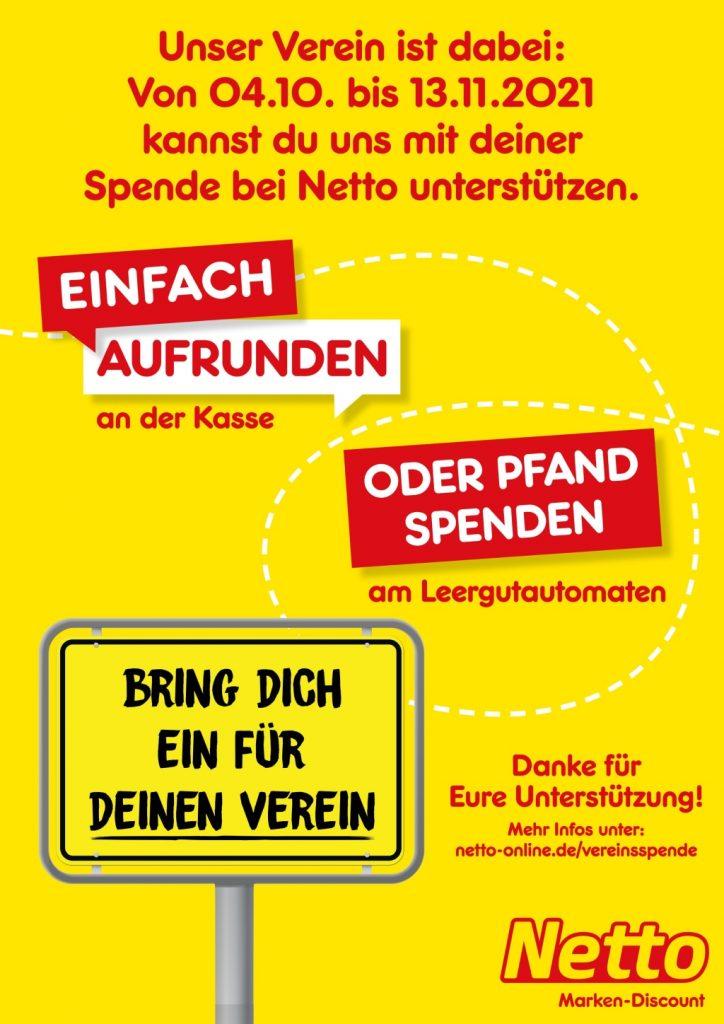 Plakat zur Netto-Spendenaktion 2021